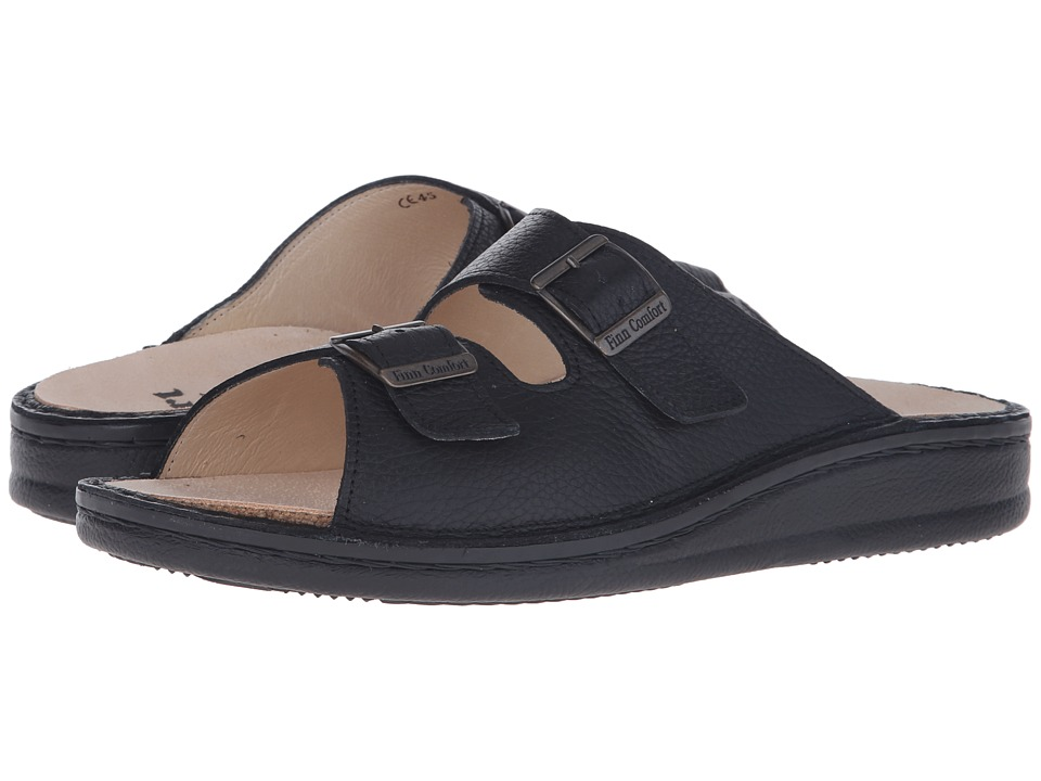 Finn Comfort Kreta Black Mens Shoes