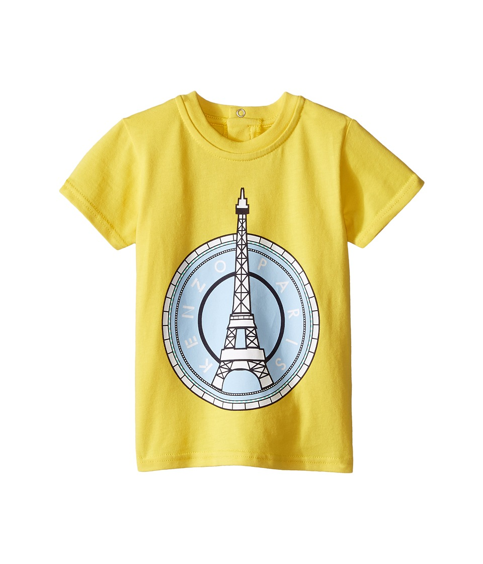 Kenzo Kids Layette Eiffel Tower T Shirt Infant Bright Yellow Kids T Shirt