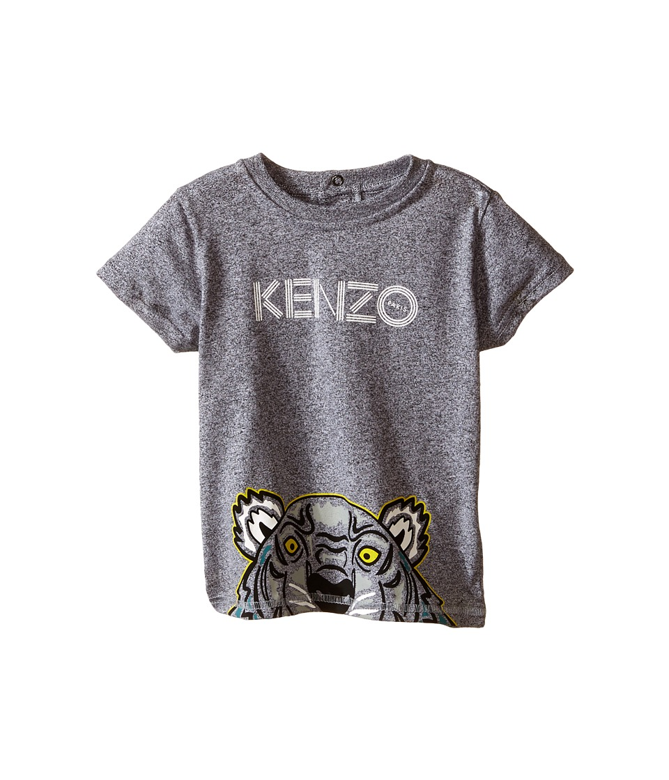 Kenzo Kids Layette Half Tiger Head T Shirt Infant Dark Grey Kids T Shirt