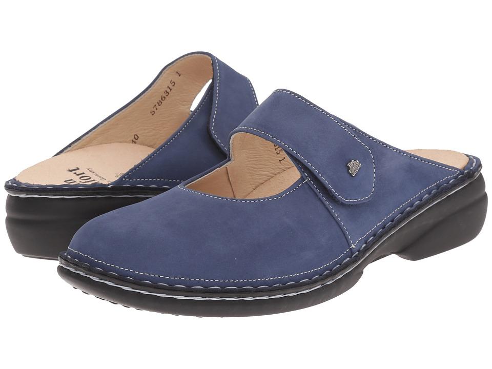 Finn Comfort Stanford 2552 Denim Womens Clog Shoes