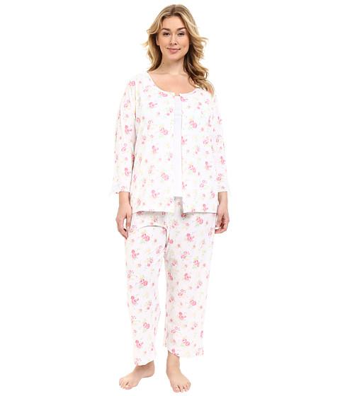 Carole Hochman Plus Size Three-Piece Capris Pajama Set