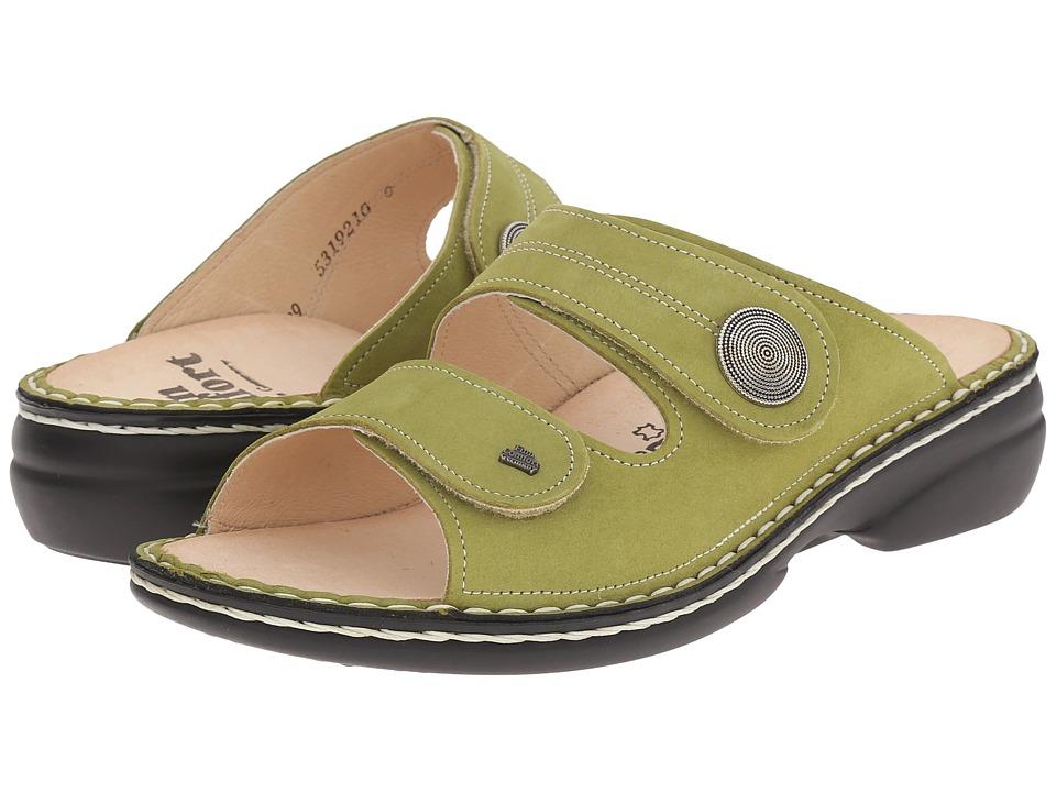 Finn Comfort Sansibar 2550 Green Womens Slide Shoes