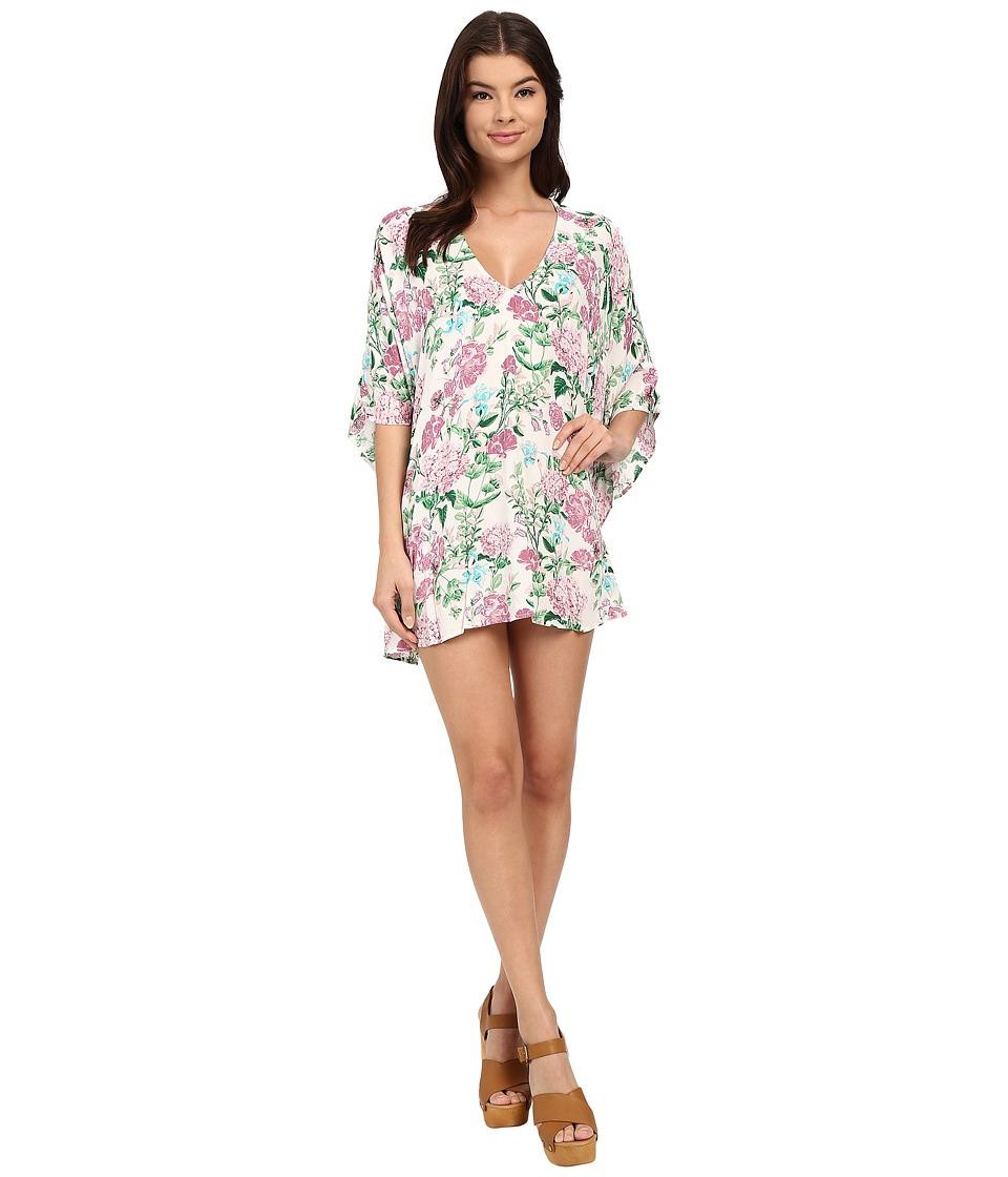 Show Me Your Mumu Peta Tunic Poppies/Cream Cloud Womens Clothing