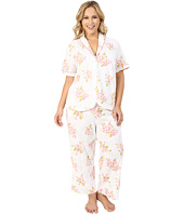 Carole Hochman - Plus Size Floral Cotton Capris Pajama