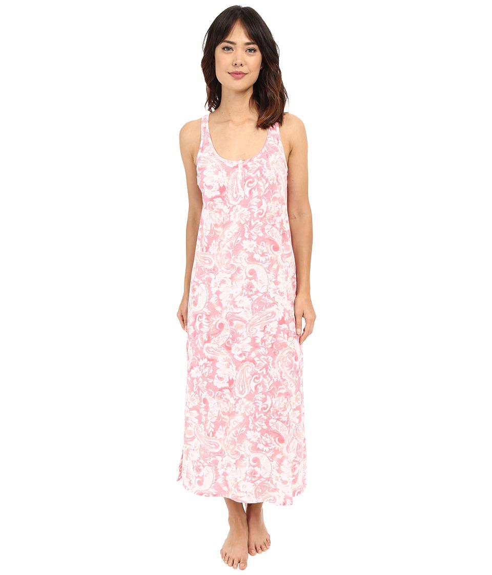 LAUREN Ralph Lauren Maxi Gown Paisley Coral Womens Pajama