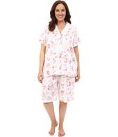 LAUREN Ralph Lauren - Plus Size Knit Bermuda PJ Set