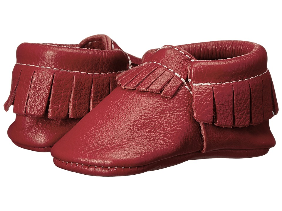 Freshly Picked - Soft Sole Moccasins (Infant/Toddler) (Cherry) Kids Shoes