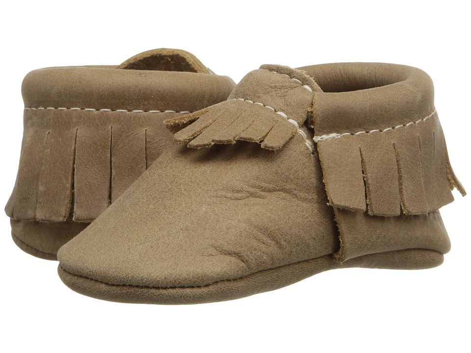 Freshly Picked - Soft Sole Moccasins (Infant/Toddler) (Weathered Brown) Kids Shoes
