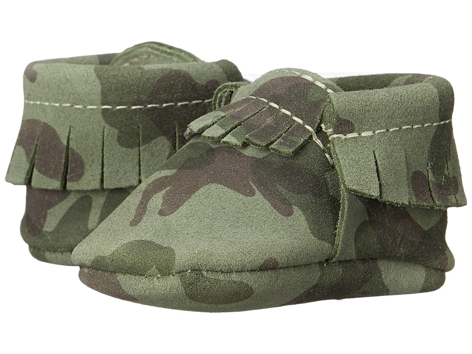 Freshly Picked - Soft Sole Moccasins (Infant/Toddler) (Green Camo) Kids Shoes
