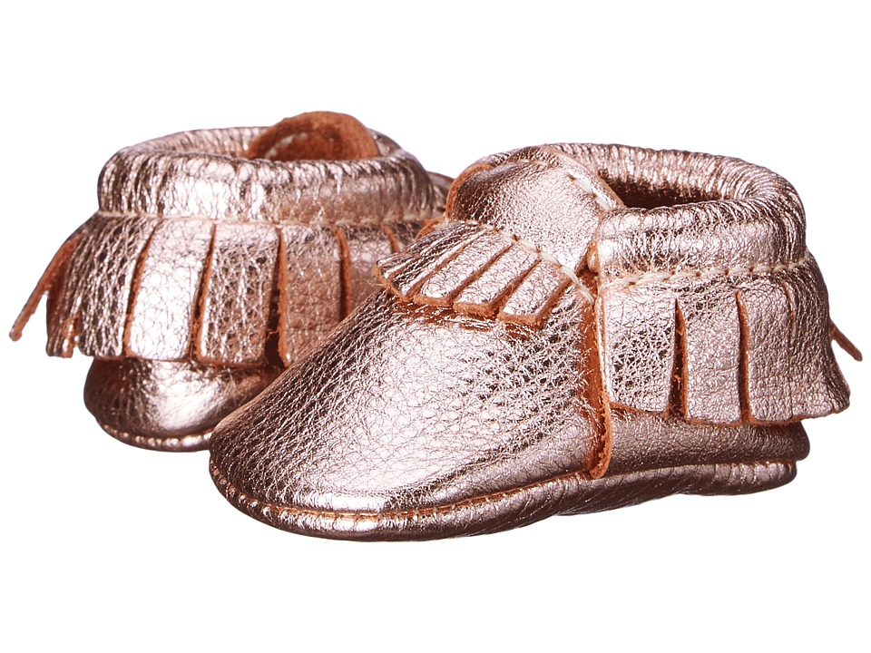 Freshly Picked Newborn Moccasins Infant Petite Rose Gold Girls Shoes