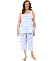 LAUREN Ralph Lauren - Plus Size Tank Top Capri PJ Set