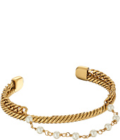 Marc Jacobs - Pearl Hanging Chain Cuff Bracelet