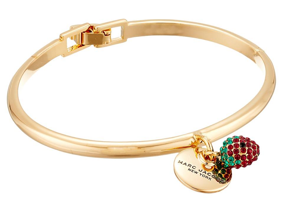 Marc Jacobs - Strawberry Hinge Cuff Bracelet (Gold) Bracelet