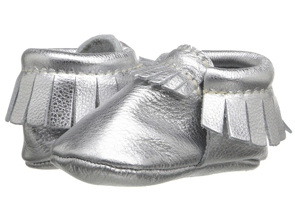 Freshly Picked Soft Sole Moccasins Infant/Toddler Chrome Kids Shoes