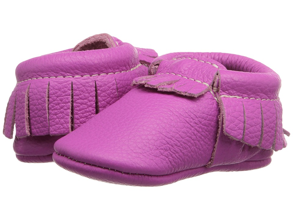 Freshly Picked - Soft Sole Moccasins (Infant/Toddler) (Tickle Me Pink) Kids Shoes