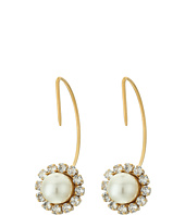 Marc Jacobs - Crystal Pearl Hoops Earrings