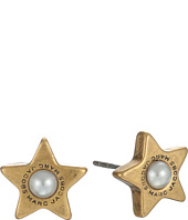 Marc Jacobs - Flat Pearl Star Studs Earrings
