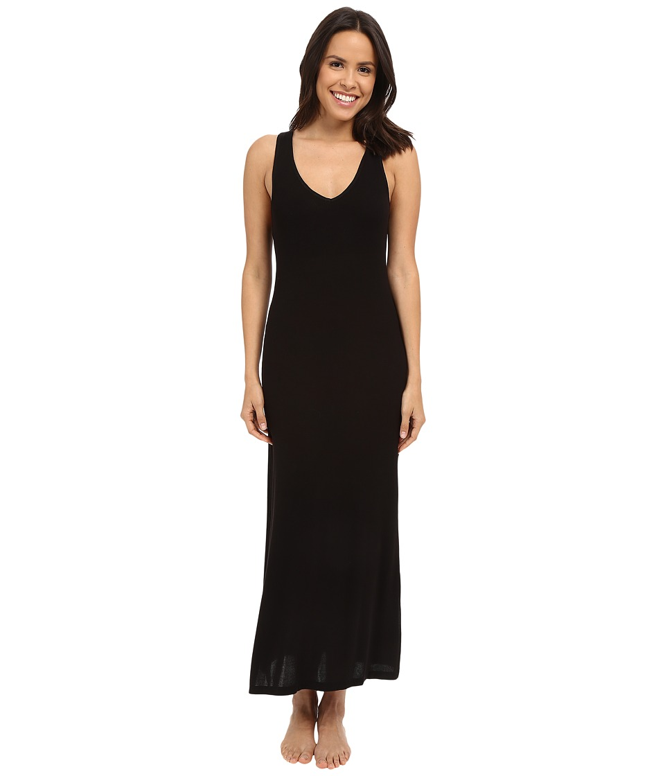 Midnight by Carole Hochman Lounge Maxi Black Womens Pajama