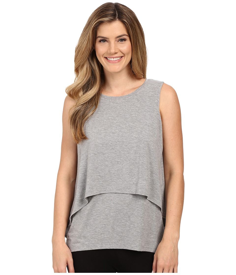 Midnight by Carole Hochman Lounge Tank Top Heather Grey Womens Pajama