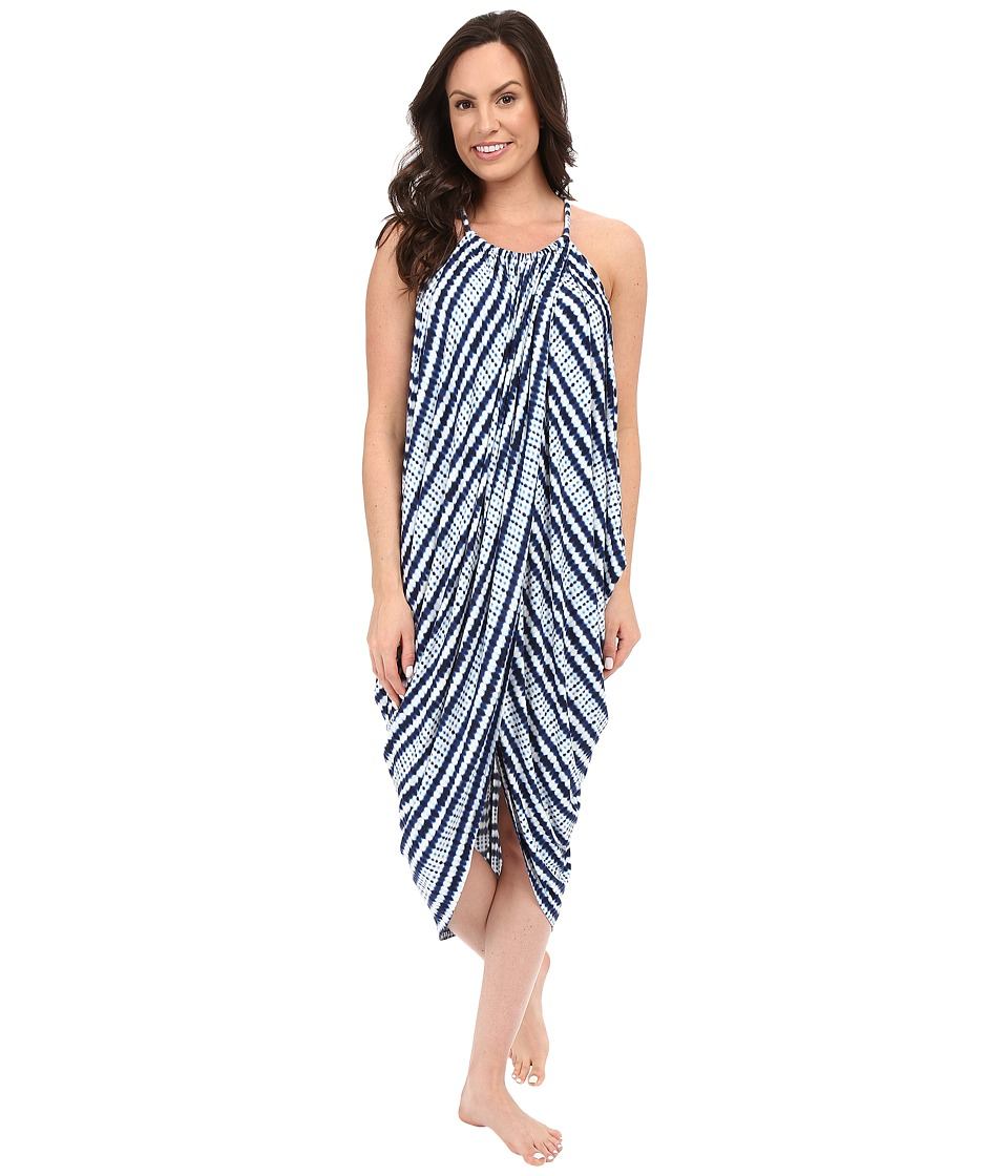Midnight by Carole Hochman Maxi Gown Abstract Stripe Womens Pajama