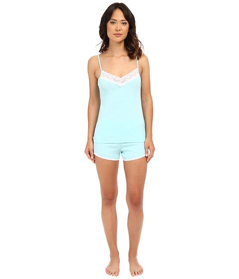 LAUREN Ralph Lauren Lace Trimmed Cami Boxer Set - Turquoise