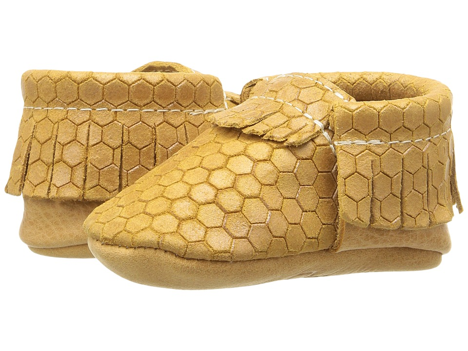 Freshly Picked - Soft Sole Moccasins (Infant/Toddler) (Honey Comb) Kids Shoes
