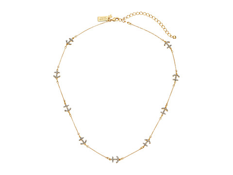 Kate Spade New York Anchors Away Pave Anchor Short Scatter Necklace