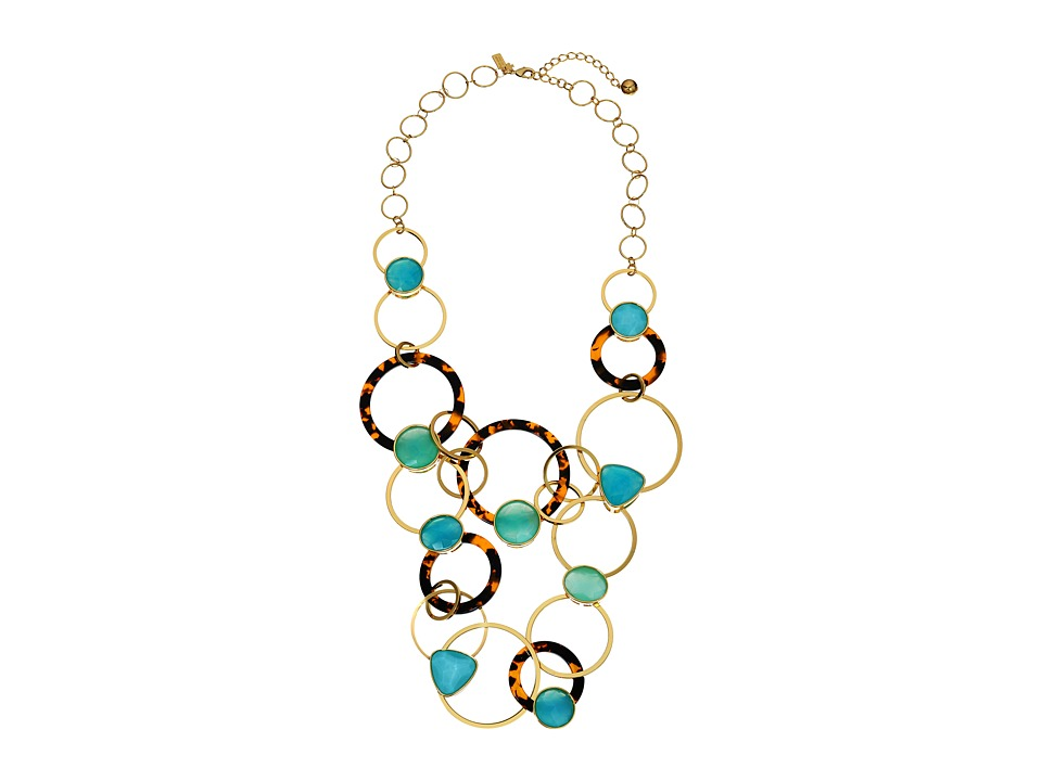 Kate Spade New York Sun Kissed Sparkle Statement Necklace Turquoise Multi Necklace
