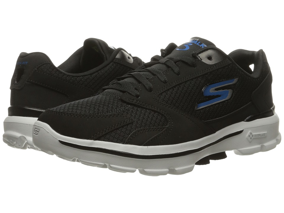 SKECHERS Performance Go Walk 3 (Black/Blue) Men