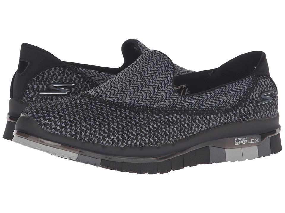 SKECHERS Performance - Go Flex (Black/Gray) Womens Shoes