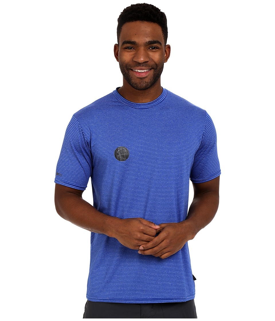 ONeill Hybrid Short Sleeve Surf Shirt Deep Sea Mens Swimwear