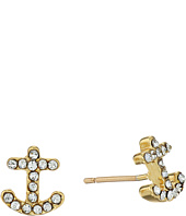 Kate Spade New York - Anchors Away Pave Anchor Stud Earrings