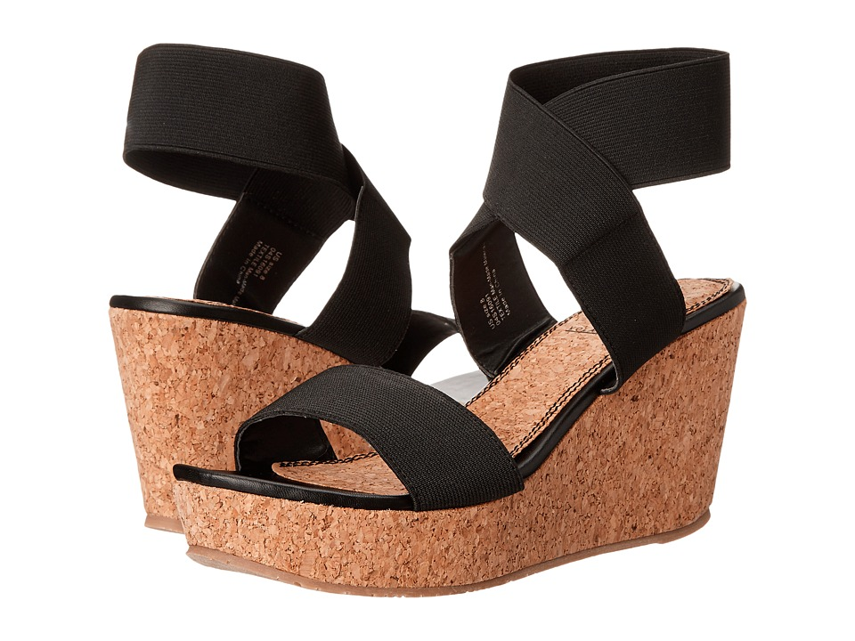 VOLATILE Mandaya Black Womens Wedge Shoes