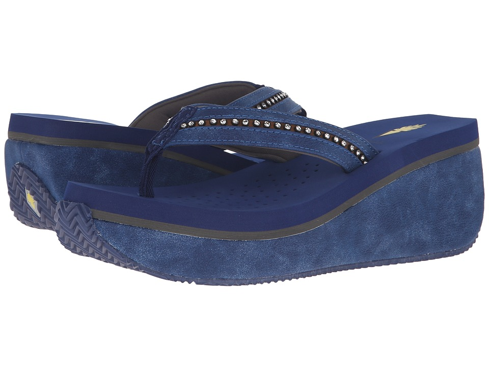 VOLATILE Nellore Navy Womens Wedge Shoes