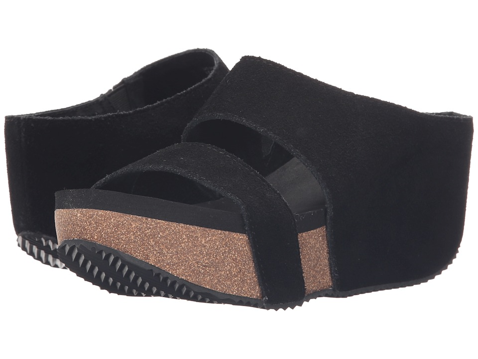 VOLATILE August Black Womens Wedge Shoes
