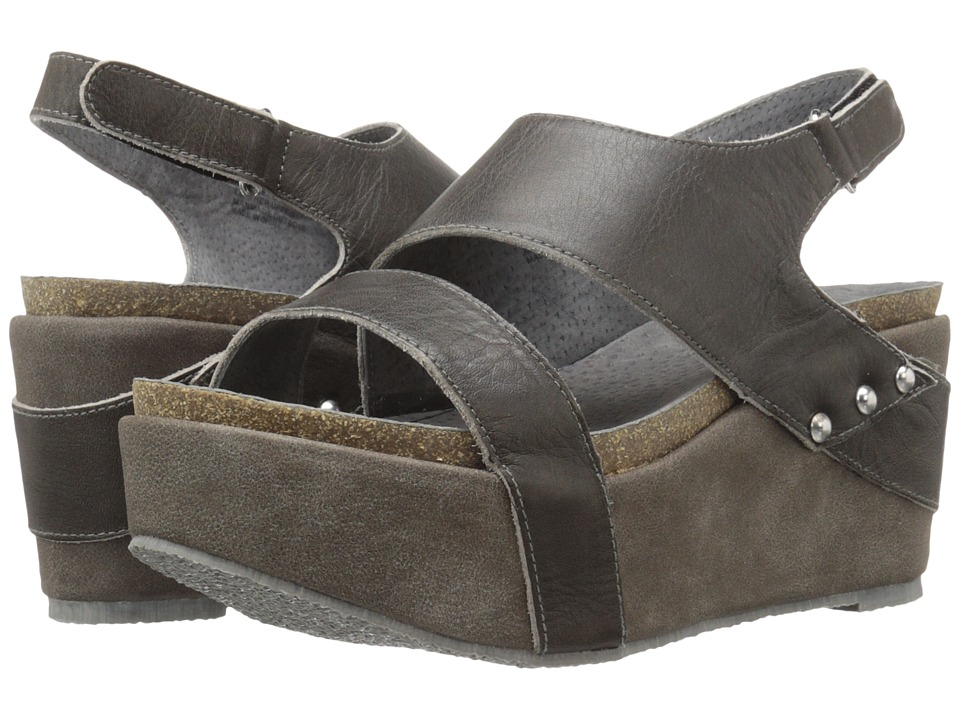 VOLATILE Janey Charcoal Womens Wedge Shoes