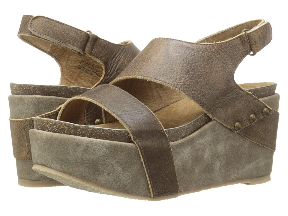 VOLATILE Janey Taupe Womens Wedge Shoes