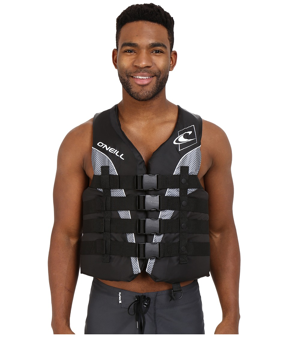 O'Neill Superlite USCG Vest (Black/Black/Smoke/White) Men's Swimwear
