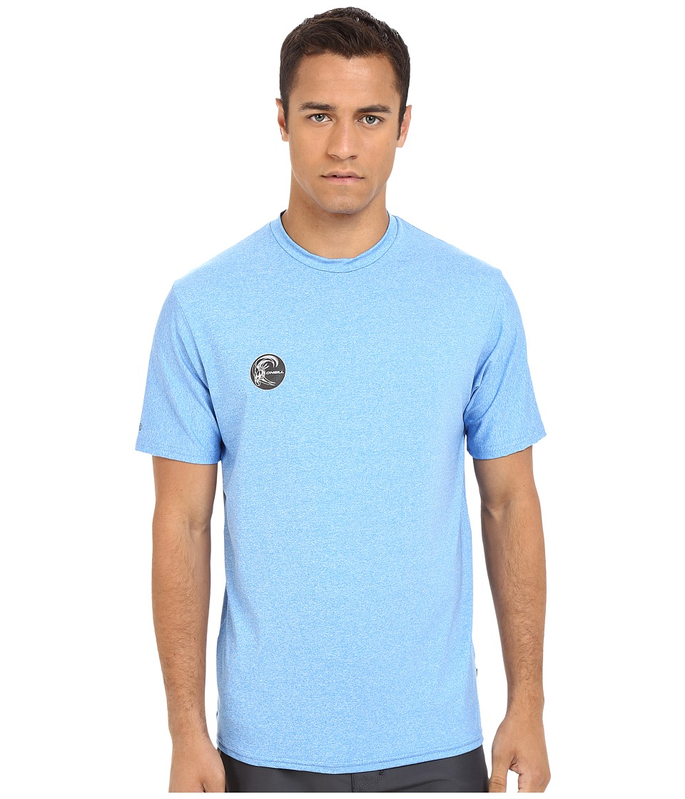ONeill 24 7 Hybrid Short Sleeve Surf Shirt Brite Blue Mens Swimwear