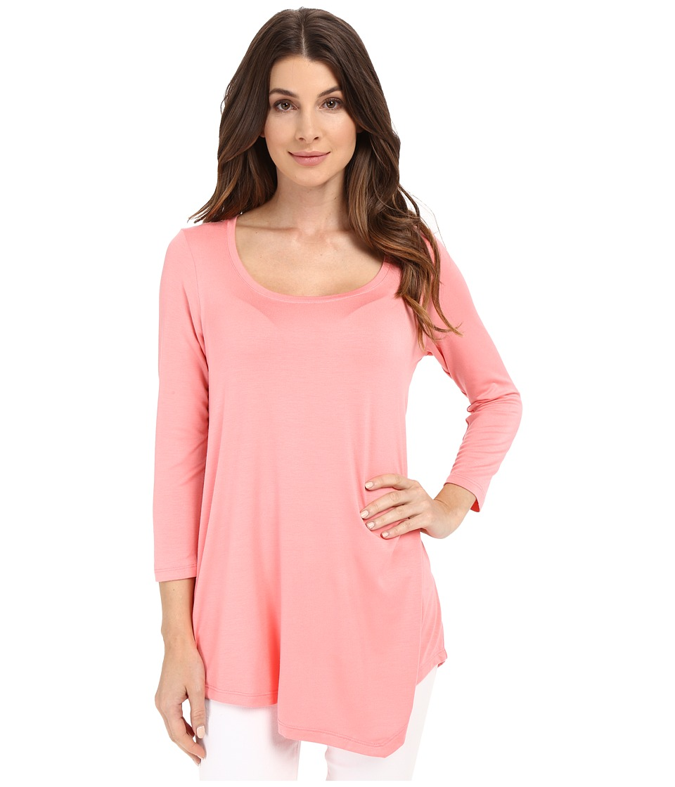 NYDJ - City/Sport Leah Basic 3/4 Sleeve Tee (Pink Lemonade) Women