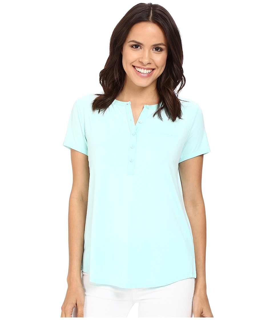 NYDJ - Pleat Back Knit Top (Aqua Salt) Women