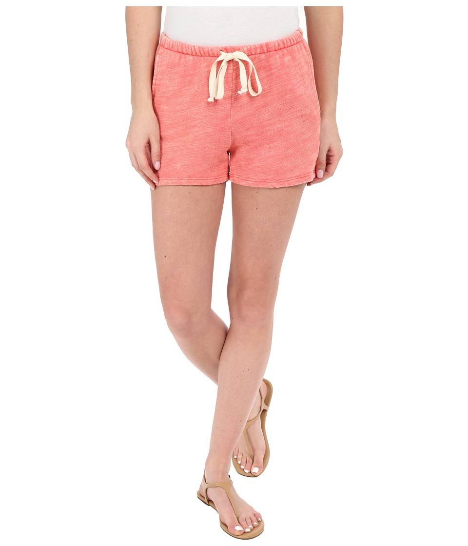 Project Social T Bonfire Shorts Mineral Wash Hot Papaya Womens Shorts
