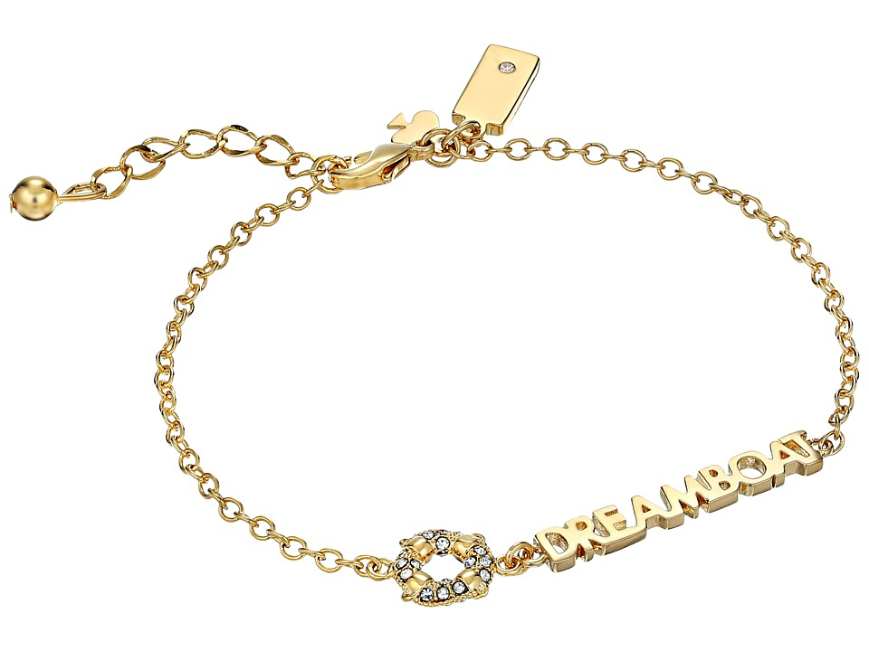Kate Spade New York Kiss A Prince Dreamboat Bracelet Clear/Gold Bracelet