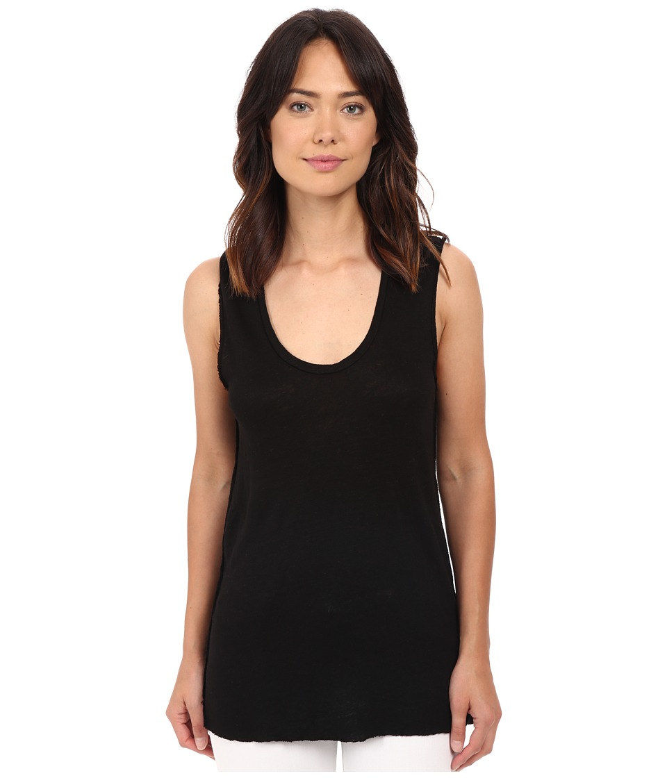 Project Social T Boardwalk Linen Tank Top Black Womens Sleeveless