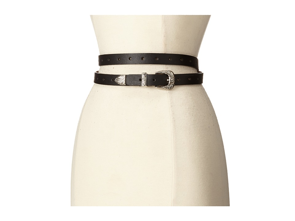 ADA Collection Bina Belt Black/Silver Womens Belts