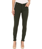 7 For All Mankind - The Ankle Skinny with Raw Hem in Olive