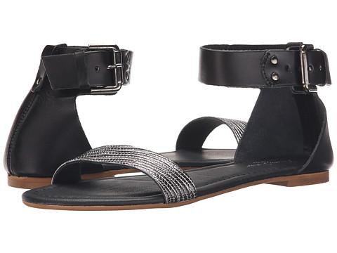 Massimo Matteo Flat Ankle Strap - Nero
