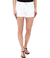 7 For All Mankind - Raw Edge WB Cut Off Shorts with Destroy in White