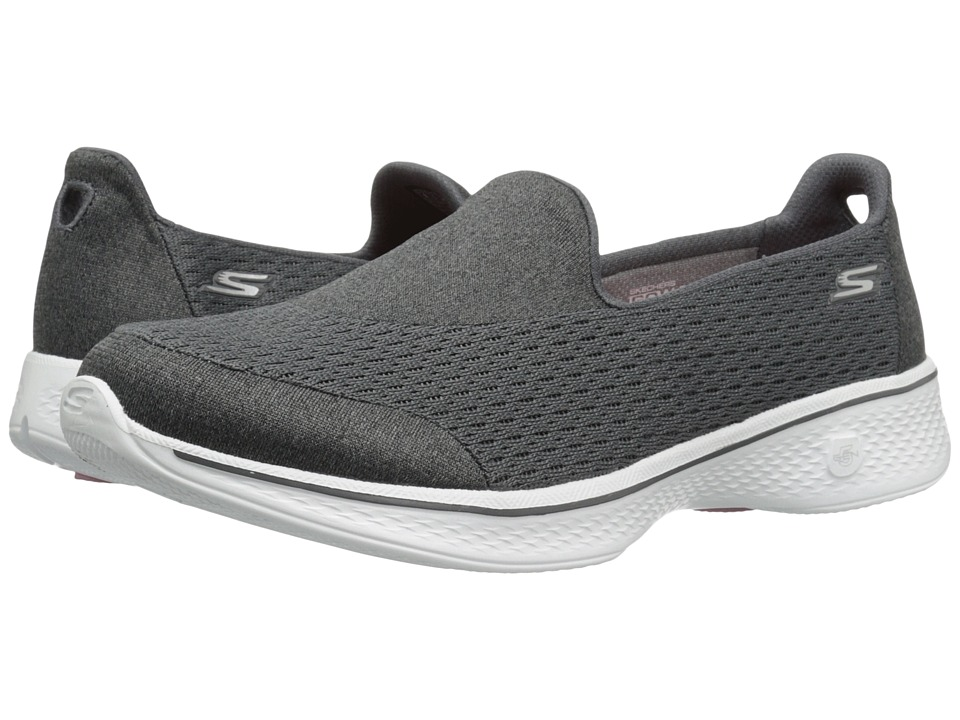 SKECHERS Performance - Go Walk 4 - Pursuit (Charcoal) Wom...