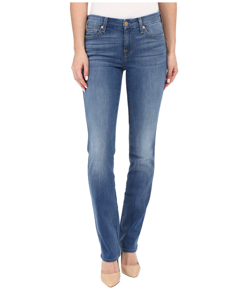 7 For All Mankind Kimmie Straight in Supreme Vibrant Blue Supreme Vibrant Blue Womens Jeans